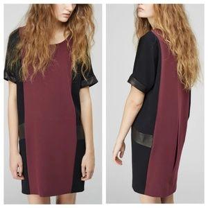 NWOT Rag & Bone M MEDIUM Mabel Leather Trim Dress